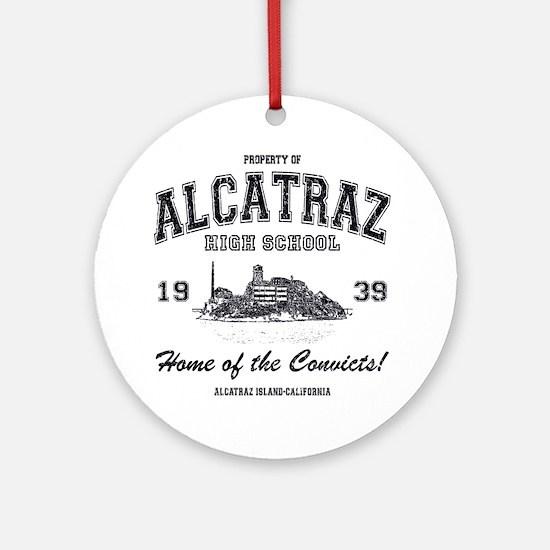 Alcatraz High School Round Ornament