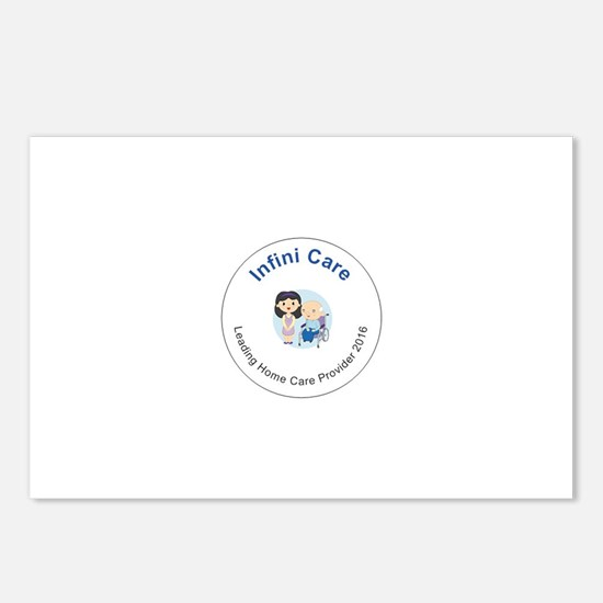 Infini care logo Postcards (Package of 8)