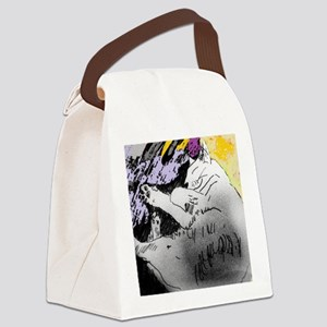 HAPPY CAT Canvas Lunch Bag
