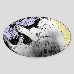 HAPPY CAT Sticker (Oval)