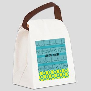 Cardiac Nurse all over 3 Canvas Lunch Bag