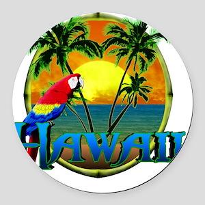 Hawaiian Sunset Round Car Magnet