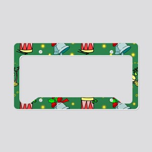 Christmas, Horns, Drumes, Bel License Plate Holder