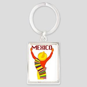 Vintage Mexico Travel Portrait Keychain