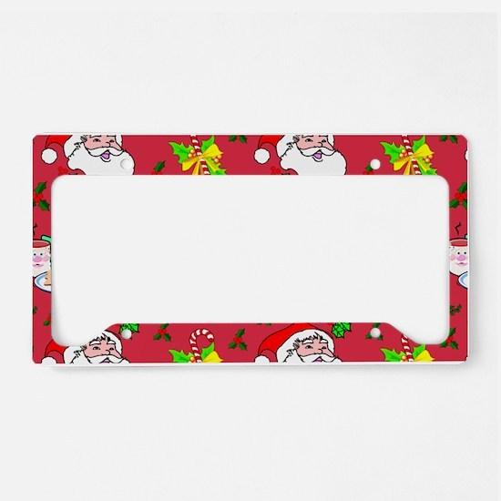 Christmas, Santa Claus, Reind License Plate Holder