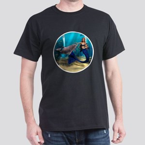 Mermaid and Dolphin Dark T-Shirt