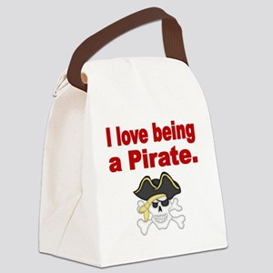 I love being a Pirate Canvas Lunch Bag