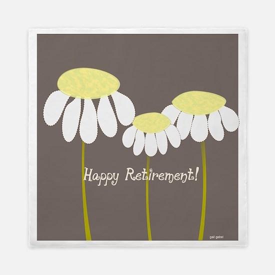 happy retirement daisies Queen Duvet