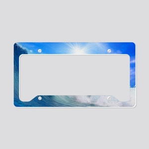 Dolphin Surf License Plate Holder