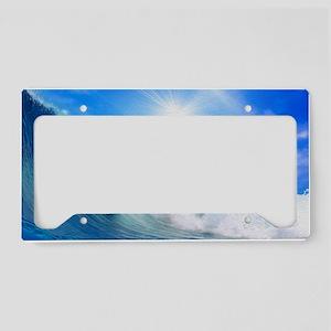 Dolphin Surf License Plate Holder