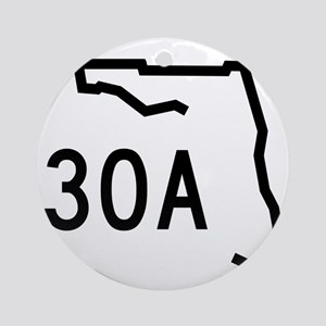 30A Florida Coast Round Ornament