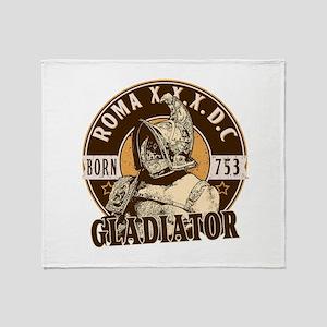 Roman Gladiator Throw Blanket