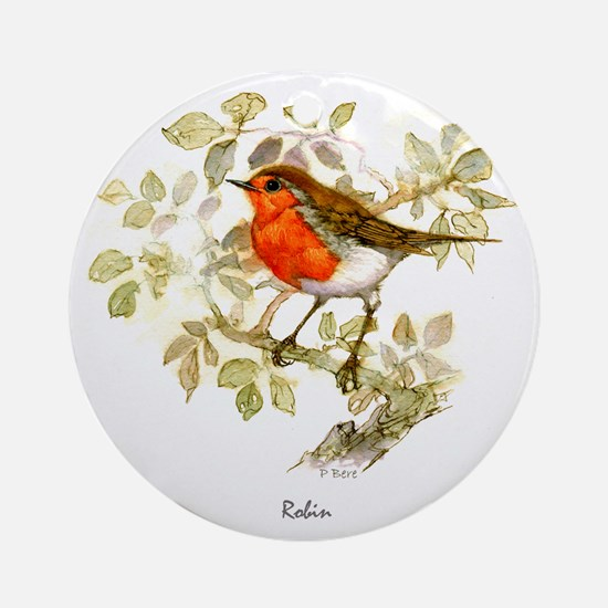 Robin Peter Bere Design Round Ornament