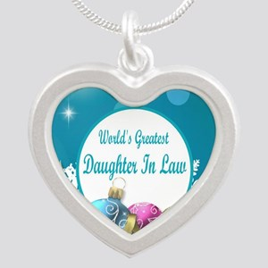 Worlds Greatest Daughter In  Silver Heart Necklace