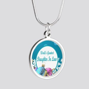 Worlds Greatest Daughter In  Silver Round Necklace
