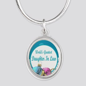 Worlds Greatest Daughter In L Silver Oval Necklace