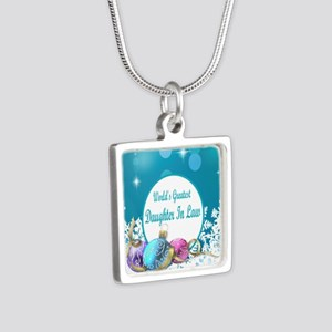 Worlds Greatest Daughter I Silver Square Necklace