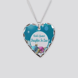 Worlds Greatest Daughter In L Necklace Heart Charm