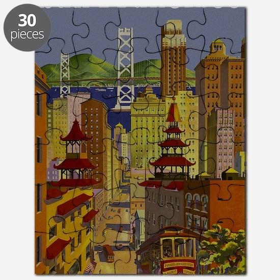 Vintage San Francisco Travel Puzzle