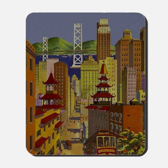 Vintage San Francisco Travel Mousepad