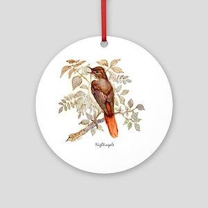 Nightingale Peter Bere Design Round Ornament