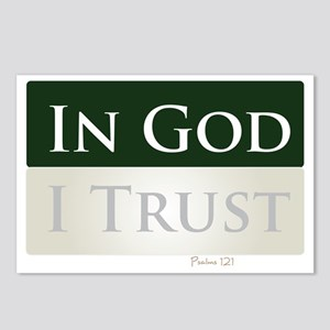 God is My Trust Postcards (Package of 8)