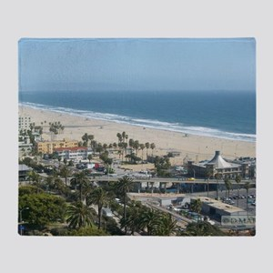 THE PERFECT VIEW IN SANTA MONICA,CA Throw Blanket