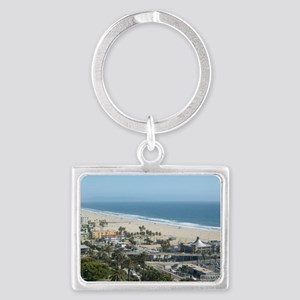 THE PERFECT VIEW IN SANTA MONIC Landscape Keychain