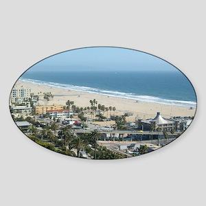 THE PERFECT VIEW IN SANTA MONICA,CA Sticker (Oval)