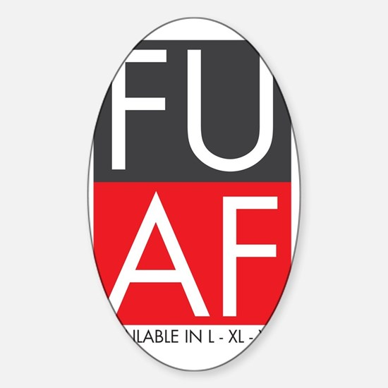 FU AF Wide Sticker (Oval)