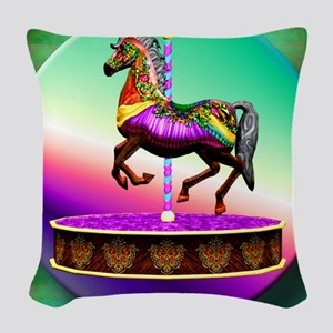 Carousel Horse  Woven Throw Pillow