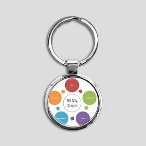5S My Diaper Round Keychain