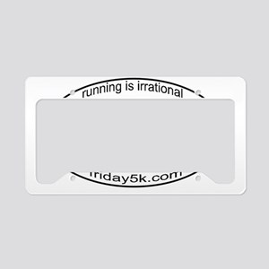 running is irrational oval License Plate Holder