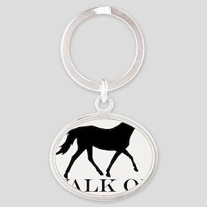 Walk on Tennessee Walker Hoodie Oval Keychain