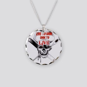 Cook to Live Necklace Circle Charm