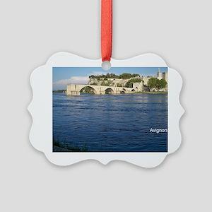 Avignon and Pont Saint-Bénezet  Picture Ornament