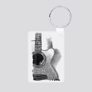Guitar Aluminum Photo Keychain