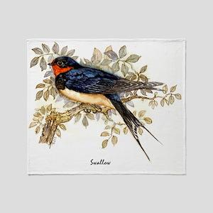 Swallow Peter Bere Design Throw Blanket