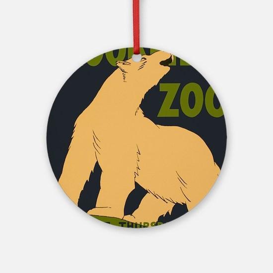 Brookfield Zoo Vintage Poster Polar Round Ornament