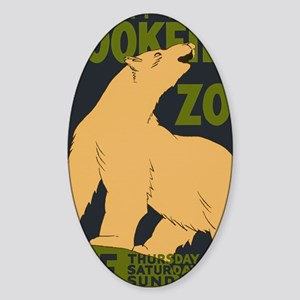 Brookfield Zoo Vintage Poster Polar Sticker (Oval)