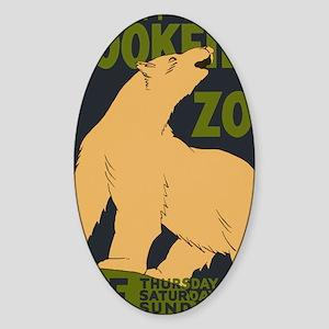 Brookfield Zoo Vintage Poster Polar Sticker (Oval)