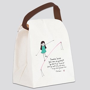 Its a Balancing Act Canvas Lunch Bag