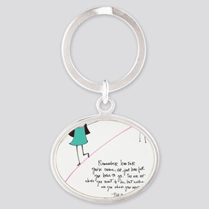 Its a Balancing Act Oval Keychain