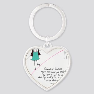 Its a Balancing Act Heart Keychain