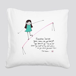 Its a Balancing Act Square Canvas Pillow