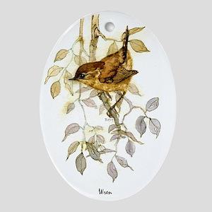 Wren Peter Bere Design Oval Ornament