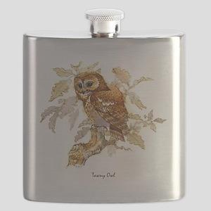 Tawny Owl Peter Bere Design Flask