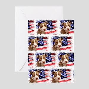 American pitbull puppy Greeting Card