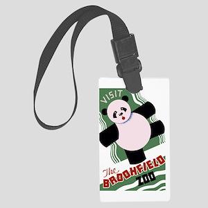 Brookfield Zoo Vintage Poster Pa Large Luggage Tag