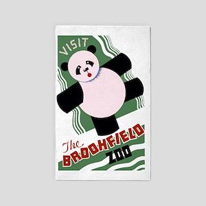 Brookfield Zoo Vintage Poster Panda 3'x5' Area Rug
